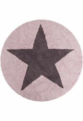 LORENA CANALS ΧΑΛΙ - REVERSIBLE ROUND STAR PINK