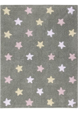 LORENA CANALS ΧΑΛΙ - Stars Tricolor Grey-Pink