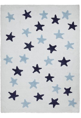LORENA CANALS ΧΑΛΙ - Stars Messy White-Blue